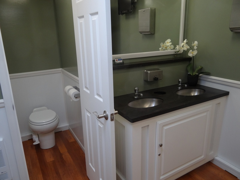 Whites Water Closets Luxury Portable Restroom Images - Luxury portable bathrooms